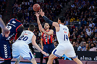 Baskonia's Ilimane Diop and Shane Larkin and Real Madrid's Jaycee Carroll and Gustavo Ayon during Semi Finals match of 2017 King's Cup at Fernando Buesa Arena in Vitoria, Spain. February 18, 2017. (ALTERPHOTOS/BorjaB.Hojas)