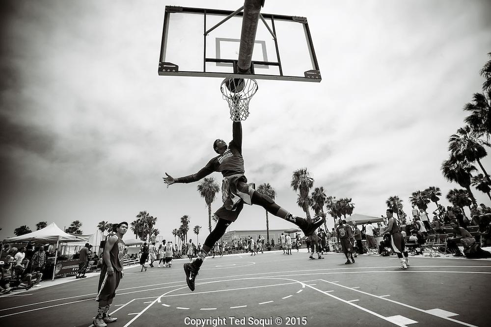 Venice Basketball League play at Venice Beach.