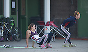 Amsterdam. NETHERLANDS. US Athletes stretching. 2014 FISA  World Rowing. Championships.  De Bosbaan Rowing Course . 07:56:15  Thursday  21/08/2014  [Mandatory Credit; Peter Spurrier/Intersport-images]