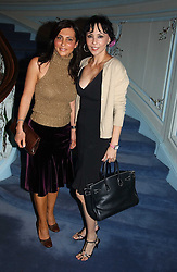 Left to right, ELLA KRASNER and MARIE HELVIN at jewellers Tiffany's Christmas party held at The Savile Club, 69 Brook Street, London on 14th December 2004.<br /><br />NON EXCLUSIVE - WORLD RIGHTS