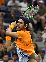 August 31, 2018 - Flushing Meadow, NY, U.S. - FLUSHING MEADOW, NY - AUGUST 31: Karen Khachanov (RUS) in action during his 3rd round match in the Men's Singles Championships at the US Open on August 31, 2018, at the Billie Jean King Tennis Center in Flushing Meadow, NY. (Photo by Cynthia Lum/Icon Sportswire) (Credit Image: © Cynthia Lum/Icon SMI via ZUMA Press)