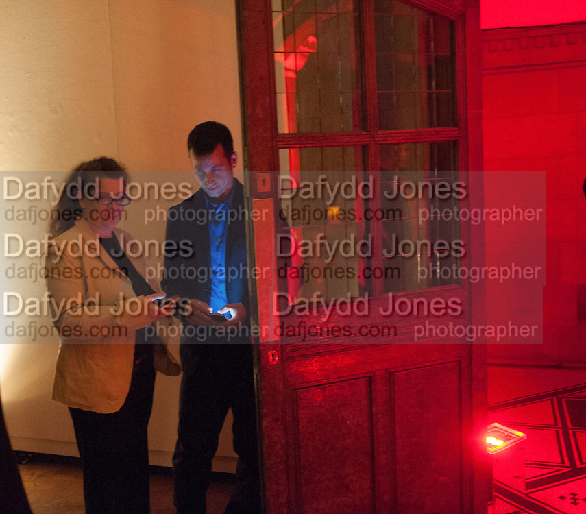 Amanda Sharp; Matthew Slotover; , DINNER TO CELEBRATE THE ARTISTS OF FRIEZE PROJECTS AND THE EMDASH AWARD 2012 hosted by ANDREA DIBELIUS founder EMDASH FOUNDATION, AMANDA SHARP and MATTHEW SLOTOVER founders FRIEZE. THE FORMER CENTRAL ST MARTIN'S SCHOOL OF ART AND DESIGN, SOUTHAMPTON ROW, LONDON WC1. 11 October 2012