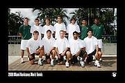 2008 Miami Hurricanes Men's Tennis Team Photo
