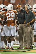 AUSTIN, TX - SEPTEMBER 14: Defensive coordinator Greg Robinson of the Texas Longhorns looks on against the Mississippi Rebels on September 14, 2013 at Darrell K Royal-Texas Memorial Stadium in Austin, Texas.  (Photo by Cooper Neill/Getty Images) *** Local Caption *** Greg Robinson