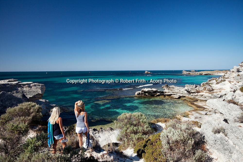 Tourists at Longreach Bay, Rottnest Island