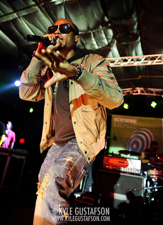AUSTIN, TX - March 17th, 2011: B.O.B. performs at the Atlantic records showcase at La Zona Rosa at the 2011 SXSW festival in Austin, TX.  He was added to the bill after Lupe Fiasco announced he would not perform as scheduled. (Photo by Kyle Gustafson/For The Washington Post)