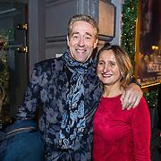 NLD/Amsterdam/20161222 - Première 32ste Wereldkerstcircus, Peter Heerschop en partner Linda Rabelink