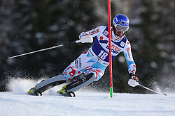 06.01.2014, Stelvio, Bormio, ITA, FIS Weltcup Ski Alpin, Bormio, Slalom, Herren, im Bild Jean-Baptiste Grange // Jean-Baptiste Grange  in action during mens Slalom of the Bormio FIS Ski World Cup at the Stelvio in Bormio, Italy on 2014/01/06. EXPA Pictures © 2014, PhotoCredit: EXPA/ Sammy Minkoff<br /> <br /> *****ATTENTION - OUT of GER*****