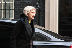 Downing Street, London, January 27th 2015. Ministers attend the weekly cabinet meeting at Downing Street. PICTURED: Home Secretary Theresa May