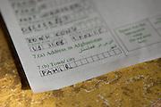 Foreigner registration procedure. In the border town of Ishkashim, on the Tajikistan - Afghanistan border. Hindukush mountains.
