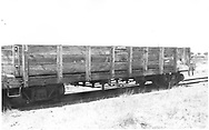 3/4 view of D&RGW gondola #6299, the Alamosa trash gon, at Alamosa.<br /> D&RGW  Alamosa, CO  Taken by Schnepf, Ted - 6/1971