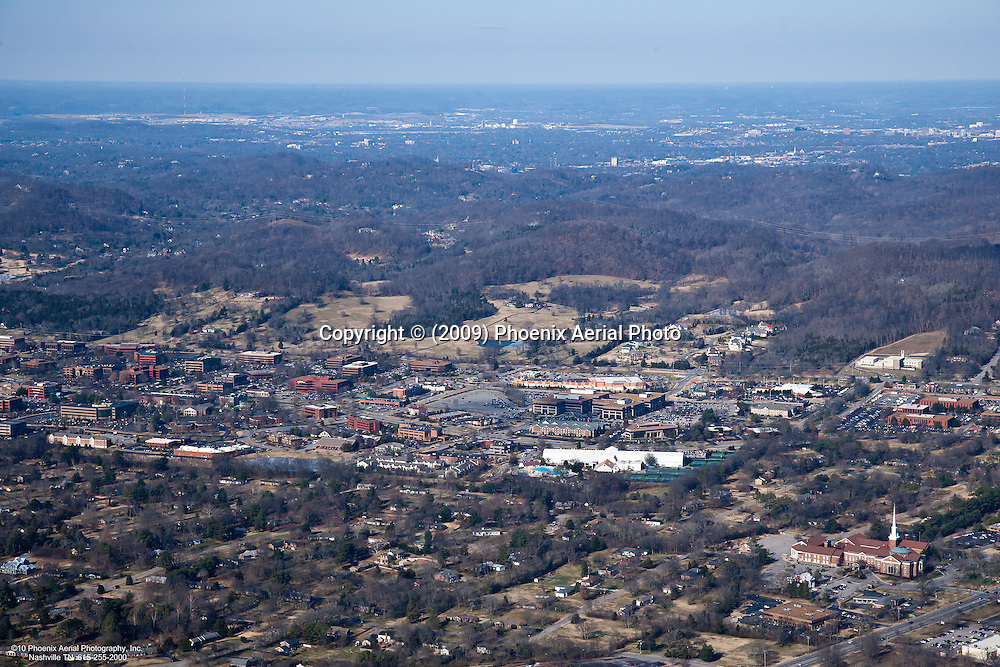Aerial photo of Maryland Farms Office Park in Brentwood Tennessee.
