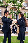 6th formers, Hockerill Anglo-European College, Bishop's Stortford.