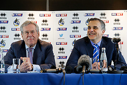 New Bristol Rovers Chairman Steve Hamer and New club President Wael Al-Qadi address the media at a press conference to announce that Bristol Rovers has been aquired by the Jordanian Al-Qadi Family who have taken a 92 percent stake in the club - Mandatory byline: Rogan Thomson/JMP - 07966 386802 - 19/02/2016 - FOOTBALL - Memorial Stadium - Bristol, England - Bristol Rovers New Owners.