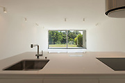 Architecture, new trend design, counter top of modern kitchen