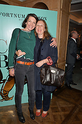 Left to right, THOMASINA MIERS and ANGELA HARTNETT at a party hosted by Ewan Venters CEO of Fortnum & Mason to celebrate the launch of The Cook Book by Tom Parker Bowles held at Fortnum & Mason, 181 Piccadilly, London on 18th October 2016.