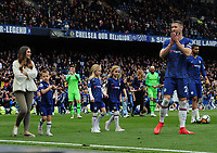Football - 2018 / 2019 Premier League - Chelsea vs. Watford<br /> <br /> Gary Gahill of Chelsea walks around the pitch with his wife and 3 children after the final home match, at Stamford Bridge.<br /> <br /> COLORSPORT/ANDREW COWIE