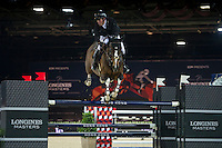 Gerco Schroder on Glock's Zaranza competes during the AirbusTrophy at the Longines Masters of Hong Kong on 20 February 2016 at the Asia World Expo in Hong Kong, China. Photo by Juan Manuel Serrano / Power Sport Images