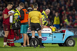 December 30, 2018 - Limerick, Ireland - Chris Cloete of Munster leaves the field injured during the Guinness PRO14 match between Munster Rugby and Leinster Rugby at Thomond Park in Limerick, Ireland on December 29, 2018  (Credit Image: © Andrew Surma/NurPhoto via ZUMA Press)