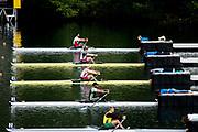 Lucerne, SWITZERLAND, Saturday , 28/05/2016 , 2016 FISA WCII,  Lake Rottsee,  Men's Single Scull Final C, USA1 M1X Kenneth Jurkowski, EGY1 M1X Nour El Din Hassanein, ARG M1X Brian Rosso,  LTU2 M1X Zygimantas Galisanskis, USA2 M1X Thomas Graves, BRA Steve Hiestand,  Mandatory Credit; Peter SPURRIER/Intersport-images]