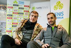 Aljaz Kos, BTC – Medot rekreativni teniški turnir dvojic, on January 13, 2018 in BTC Millenium centre, Ljubljana, Slovenia. Photo by Vid Ponikvar / Sportida