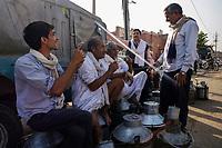 JAIPUR, INDIA - CIRCA NOVEMBER 2016: Milk seller in the streets of  Jaipur.