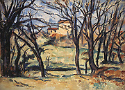 Trees and a House', 1885-1886. Paul Cezanne (1839-1906) French Post-Impressionist painter.