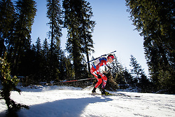 Tarjei Boe (NOR) during Men 15 km Mass Start at day 4 of IBU Biathlon World Cup 2015/16 Pokljuka, on December 20, 2015 in Rudno polje, Pokljuka, Slovenia. Photo by Ziga Zupan / Sportida