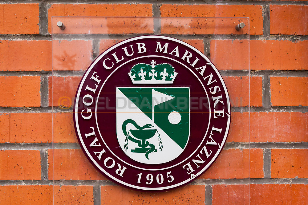 20-09-2015: Royal Golf Club Marianske Lazne in Marianske Lazne (Marienbad), Tsjechië.<br /> Foto: Logo