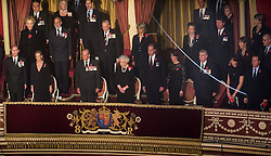 © London News Pictures. Pictured: Members of The Royal Family and politicians attend The Royal Albert Hall, London during the Festival of Remembrance on Saturday 7th November 2015. . Photo credit: Rupert Frere/LNP