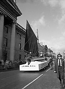 St Patrick's Day Parade.1982.17/03/1982.03.17.1982.Cruinniu Na mBad from Galway show a nautical theme at the parade.