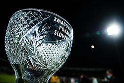 Slovenian cup trophy at final match of Slovenian football cup for season 2020/2021 between teams NK Olimpija Ljubljana and NK Celje, 25th May, 2021, Stadion Bonfika, Koper, Slovenia. Photo by Grega Valancic / Sportida