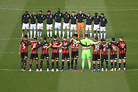 The teams observe a  two minute silence to honour the passing of HRH Duke of Edinburgh<br /> <br /> Photographer Mick Walker/CameraSport<br /> <br /> The EFL Sky Bet Championship - Huddersfield Town v Bournemouth - Tuesday 13 April 2021 - The John Smith's Stadium - Huddersfield<br /> <br /> World Copyright © 2020 CameraSport. All rights reserved. 43 Linden Ave. Countesthorpe. Leicester. England. LE8 5PG - Tel: +44 (0) 116 277 4147 - admin@camerasport.com - www.camerasport.com