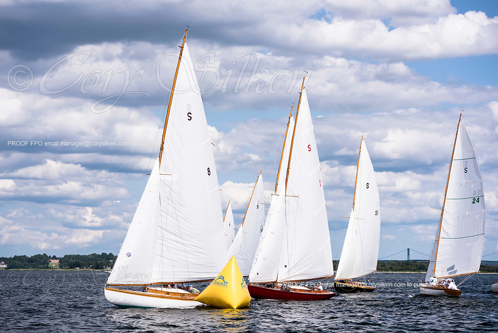 Osprey and the S Class sailing at the Herreshoff Classic Yacht Regatta.