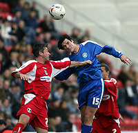 Photo: Chris Ratcliffe.<br />Leyton Orient v Boston United. Coca Cola League 2. 08/04/2006.<br />Wayne Corden of Leyton Orient (L) tussles with Mark Greaves of Leyton Orient.