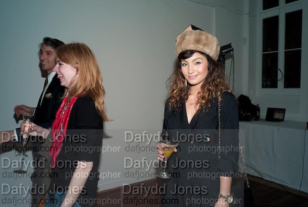 YASMINE SHAHMIR, 30 Years Of i-D - book launch. Q Book 5-8 Lower John Street, London . 4 November 2010. -DO NOT ARCHIVE-© Copyright Photograph by Dafydd Jones. 248 Clapham Rd. London SW9 0PZ. Tel 0207 820 0771. www.dafjones.com.