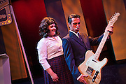 """Lindsey Hedberg, left, playing the role of Tracy Turnblad, swoons over Michael Tramontin as Link Larkin playing his electric guitar during the Coeur d'Alene Summer Theatre's production of """"Hairspray"""" on Tuesday. The show will premiere at North Idaho College's Boswell Hall Schuler Performing Arts Center at 7:30pm on August 7th."""