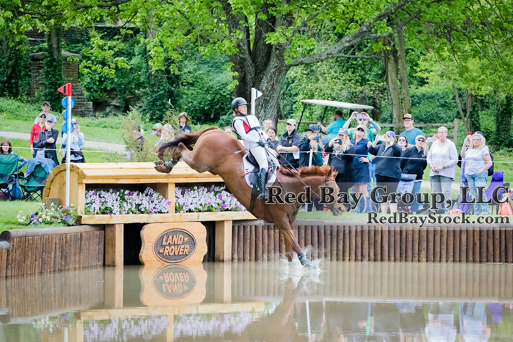 Jessica Phoenix (CAN) and Bogue Sound during cross-country at the 2019 Land Rover Kentucky Three-Day Event presented by MARS EQUESTRIAN in Lexington, Kentucky