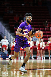 NORMAL, IL - January 05: K.J. Riley during a college basketball game between the ISU Redbirds and the University of Evansville Purple Aces on January 05 2019 at Redbird Arena in Normal, IL. (Photo by Alan Look)