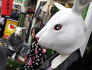2009 November 08 - Mannequins with rabbit masks in a storfront doorway on Takeshita Doori in Harajuku, Tokyo, Japan. By Richard Walker