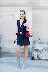 Street style, blogger Noor de Groot (Queen of Jetlags) arriving at Barbara Bui Spring Summer 2017 show held at Grand Palais, in Paris, France, on September 29, 2016. Photo by Marie-Paola Bertrand-Hillion/ABACAPRESS.COM
