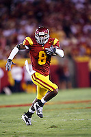 1 September 2007: #8 Ronald Johnson in action during the USC Trojans college football team defeated the Idaho Vandals 38-10 at the Los Angeles Memorial Coliseum in CA.  NCAA Pac-10 #1 ranked team first game of the season.