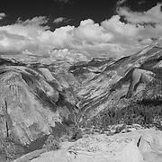 North Dome And Tenaya Canyon - Yosemite - Black & White