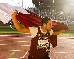 men's hammer winner victory lap, Ashraf Amgad Elseify, Qatar