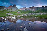 Dawn in Ice Lakes Basin, San Juan mountains near Silverton, Colorado.