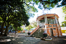 Praça Silveira Martins, mais conhecida por Praça do Coreto, na cidade de Bagé/RS. FOTO: Marcos Nagelstein/Agência Preview