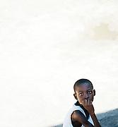 Young local boy at Jacmel, Haiti