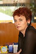 Spomenka Brkic, winery manager and director, in the tasting room. Vinarija Citluk winery in Citluk near Mostar, part of Hercegovina Vino, Mostar. Federation Bosne i Hercegovine. Bosnia Herzegovina, Europe.