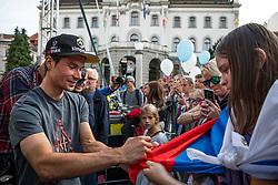 Primoz Roglic during the Day for the medals: Reception of Slovenian sport heroes on 30.9.2019 on Kongresni square, Ljubljana, Slovenia. Photo by Urban Meglič / Sportida