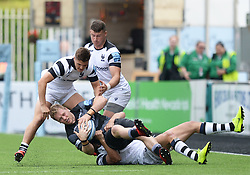 Alex Tait of Newcastle Falcons is brought down by Piers O'Conor of Bristol Bears - Mandatory by-line: Richard Lee/JMP - 18/05/2019 - RUGBY - Kingston Park Stadium - Newcastle upon Tyne, England - Newcastle Falcons v Bristol Bears - Gallagher Premiership Rugby